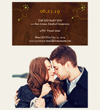 Whimsical Rustic Invite